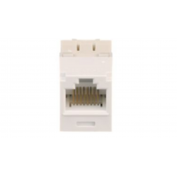 CJ688TGWH, Category 6, RJ45, 8-position, 8-wire universal module. White