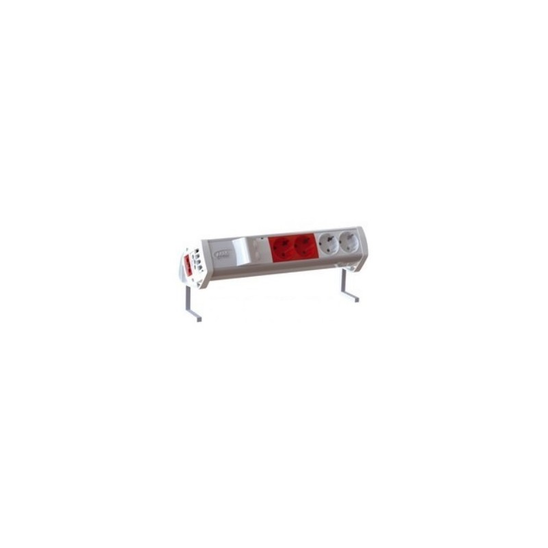 RM1030103/69, Easyblock OVER 3 черв. контакта + 2xRJ45 standt
