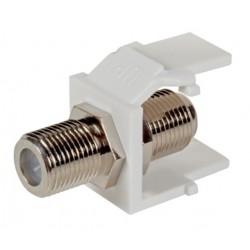 EB539, F конектор keystone type, бял