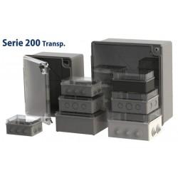 224-BTR, Кутия S200 с прозрачен капак 220x170x120mm, IP54