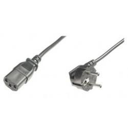 84554, Захранващ кабел, шуко 90degr M/F 1.8m 0.75mm2