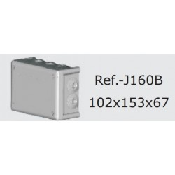 J160-B, Кутия Boxline 166x116x70 IP66 с гумени упл.