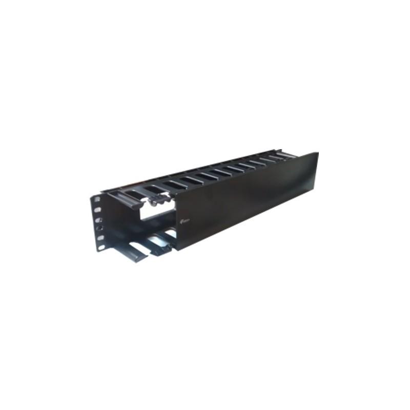 """PP43-2U, 19"""" 2U Аранжиращ панел пластик, TG"""