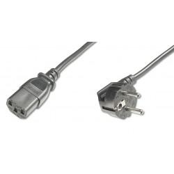 AK-440109-025-S, Захранващ кабел Schuko - C13 2.5m, сив, EFB