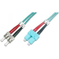 DK-2512-02/3, Оптична корда дуплекс 50/125 SC-ST (OM3), 2m Ass