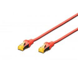 DK-1644-A-010/R, Пач кабел Cat.6A 1m SFTP червен, Assmann