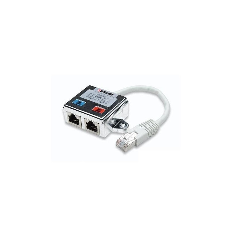 504195/211055, T адaптер FTP RJ45 male към 2xRJ45 female, IC