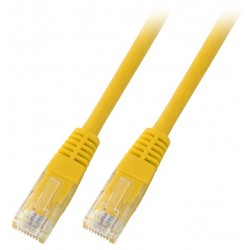 K8101GE.1, Patch cable Cat.6 1m UTP жълт, EFB
