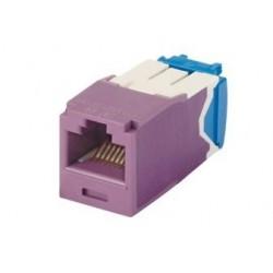 CJ6X88TGVL, Mini-Com конектор UTP Cat.6A виолет