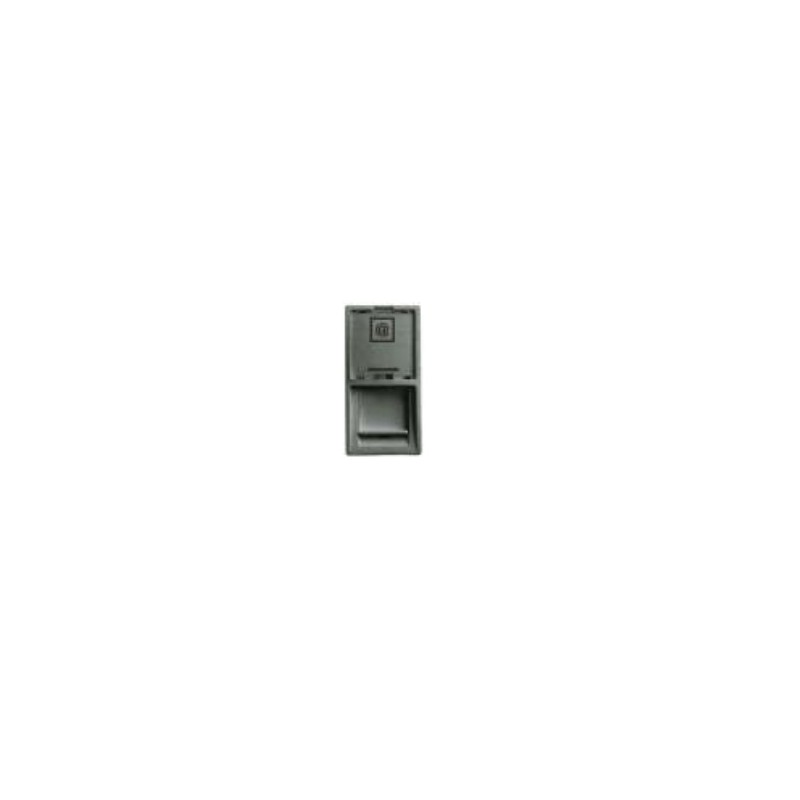4255217, Лицев панел за RJ45 - 45x22,5, графит AEMSA
