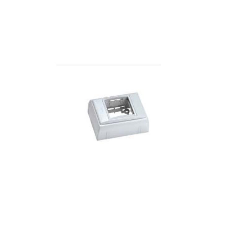 4120151, Aemsa, кутия 45x45 бяла крайна AEMSA