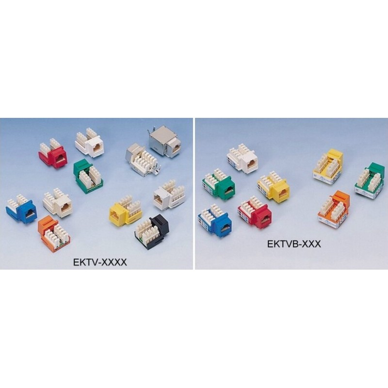 EKTV-UD02,  Keystone jack UTP cat.5e, червен EPN