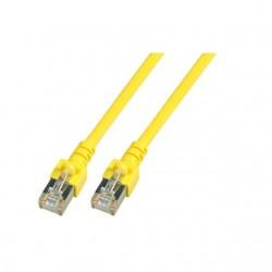 K5463.1.5, Пач кабел Cat.5e 1,5m FTP жълт, EFB