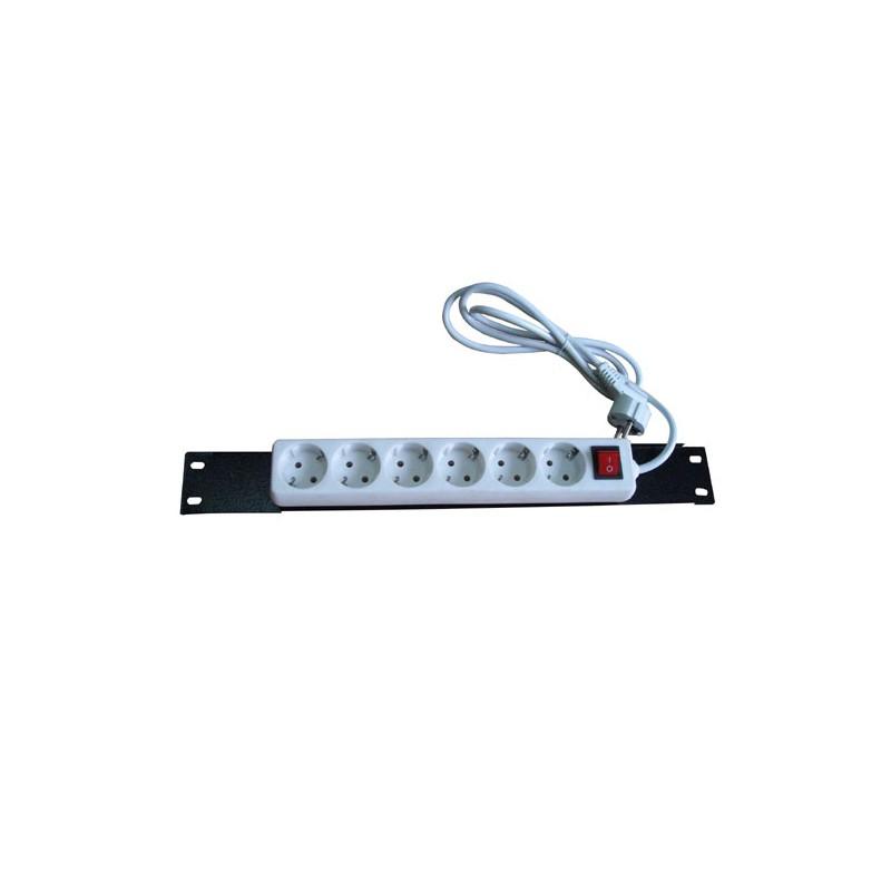 20606-01, Gursas, 6 way power strip on/off, mounting plate
