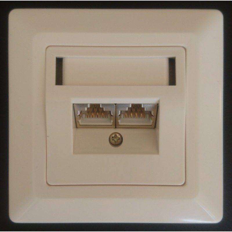 2-1711252-1, AMP, Dual Shielded Outlet Cat.5e
