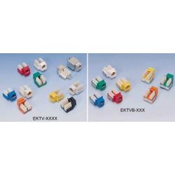 EKTV-UD05, Keystone jack UTP cat.5e, син EPN
