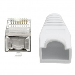 PT-241.BE, RJ 45 shield cat.5e with beige color boot, GR