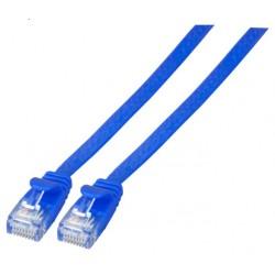 K8107BL.0,25, Пач кабел Cat.6A UTP 0,25м плосък син, EFB