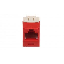 CJ688TGRD, Category 6, RJ45, 8-position, 8-wire universal module. Red