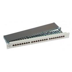 37687SW.1, Пач панел 48 порта Cat.6 EFB черен 1U