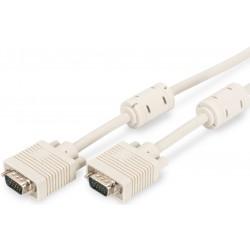 AK-310103-050-E, VGA кабел M/M 5m сив Assmann