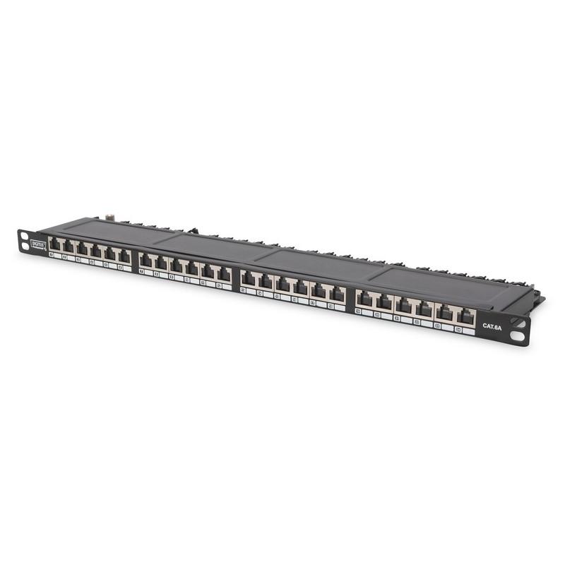 DN-91624S-SL-SH, Пач панел 24 порта FTP Cat.6 SLIM, Assmann