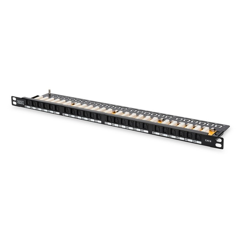 DN-91624U-SL-SH, Пач панел 24 порта UTP Cat.6 0.5U, Assmann