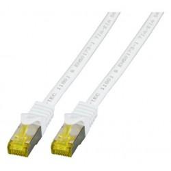 MK7001.1,5W, Пач кабел Cat.6A 1,5m SFTP бял LSZH, EFB