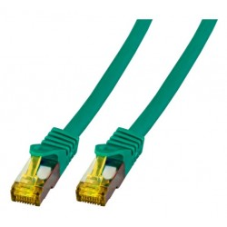 MK7001.0,25GR, Пач кабел Cat.6A 0.25m SFTP зелен LSZH, EFB