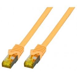 MK7001.0,25Y, Пач кабел Cat.6A 0.25m SFTP жълт LSZH, EFB