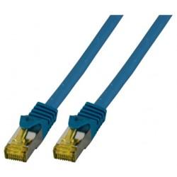MK7001.0,25BL, Пач кабел Cat.6A 0.25m SFTP син LSZH, EFB