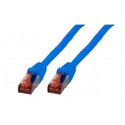 K5513.0,25, Пач кабел Cat.6 0.25m SFTP син, EFB