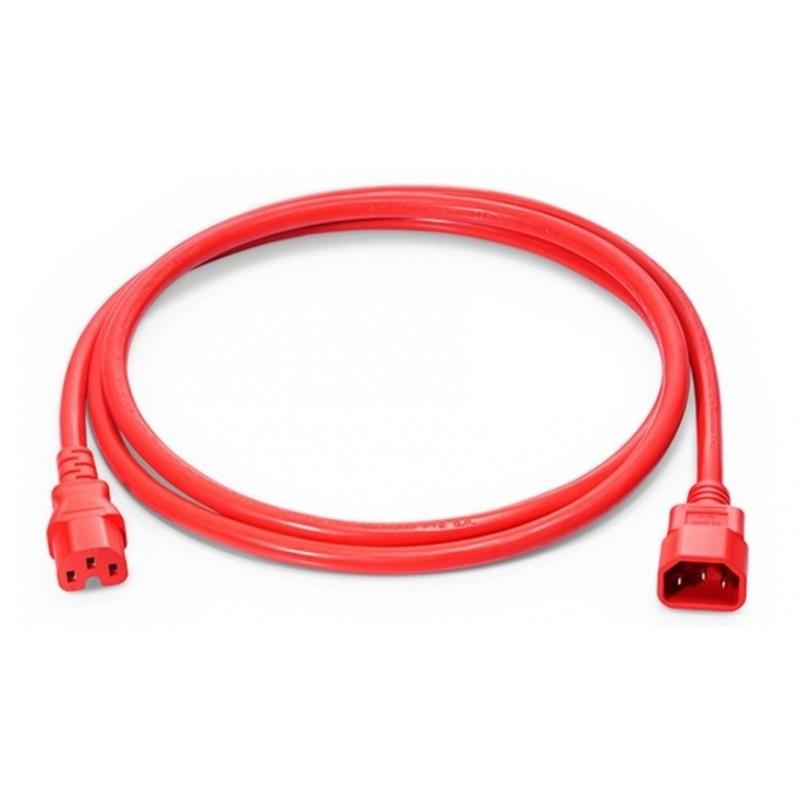 EK585.1.8R, Захранващ кабел C14 - C15 1.8m червен EFB