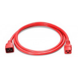 EK519.1.8R, Захранващ кабел C19 - C20 1.8m червен EFB