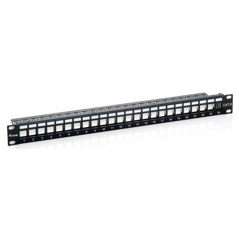 "769124, 19"" празен панел 24 порта, support bar, Equip"