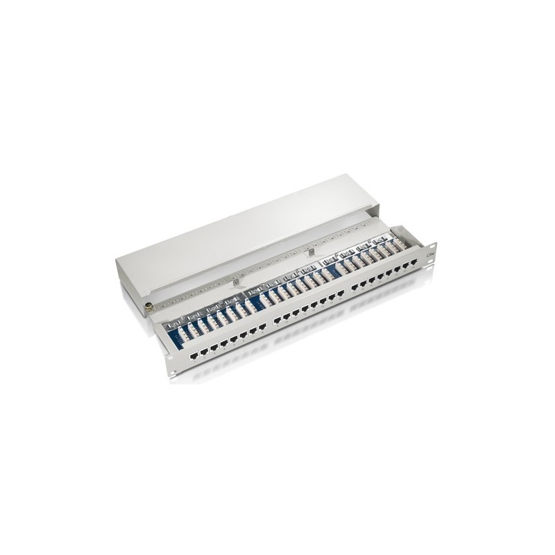 327324, Пач панел 24 порта FTP Cat.5e, Level1 сив