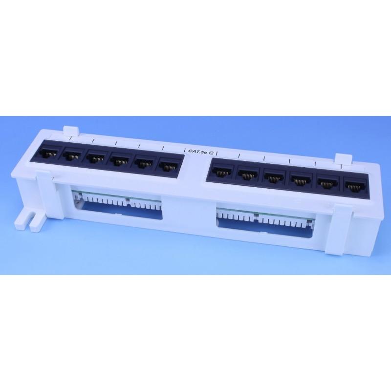 EP89U-12D00 / EPP89-120WH, Пач панел 12 порта UTP cat.5e за стена, EPNEW