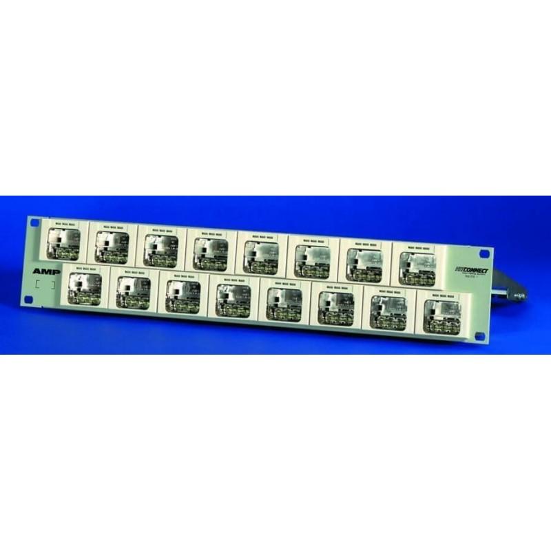 1394573-1, AMP, ACO Plus Patch Panel, 16 Port, 2U without i