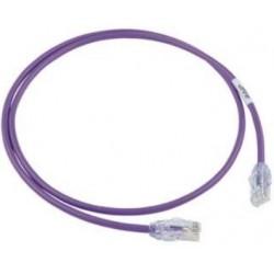 UTP28X1MVL, Пач кабел UTP cat.6A 28AWG 1m лилав, Panduit