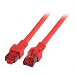 K5512.0,25, Пач кабел Cat.6 0.25m SFTP червен, EFB