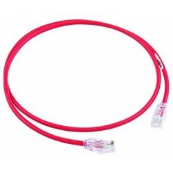 UTP28X1MRD, Пач кабел UTP cat.6A 28AWG 1m червен, Panduit