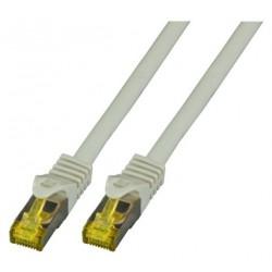 MK7001.0.25G, Пач кабел Cat.6A 0.25m SFTP сив, EFB