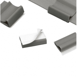 "FCC5-A-C8, Flat cable clips, any width flat cable, .56"" (14.2mm) width, gray,standard package."