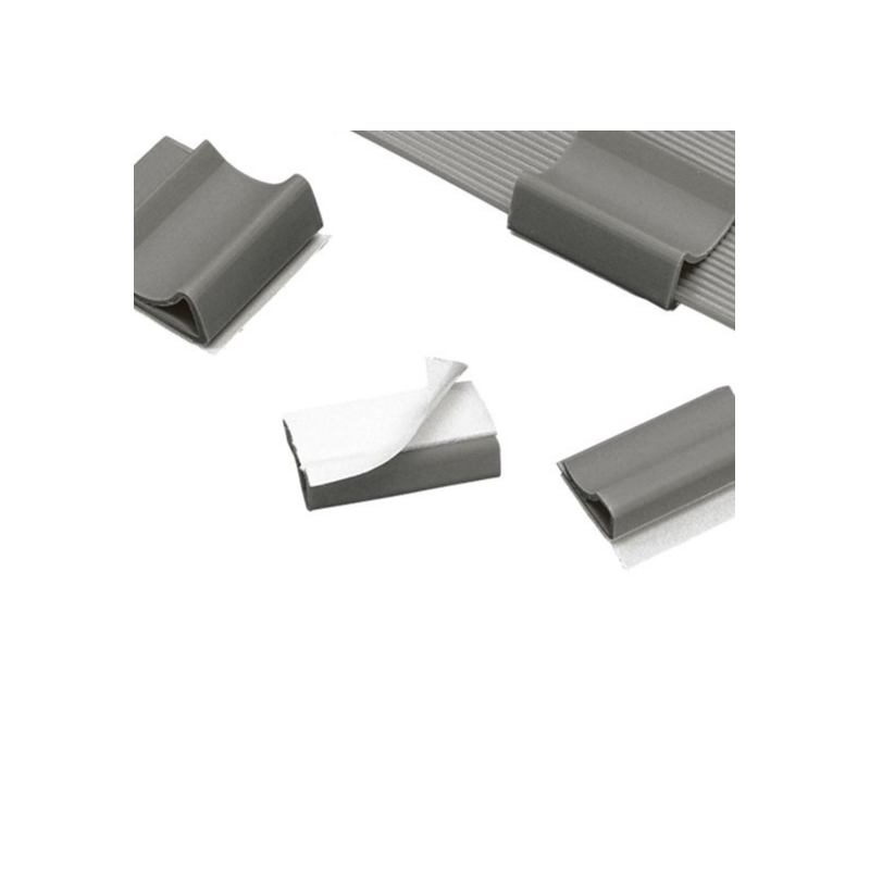"""FCC5-A-C8, Flat cable clips, any width flat cable, .56"""" (14.2mm) width, gray,standard package."""