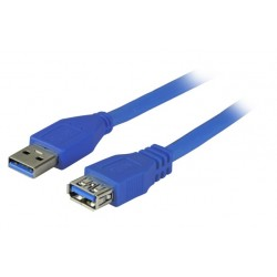 K5237BL.3, USB 3.0 кабел А-А M-F 3м син EFB - EOL
