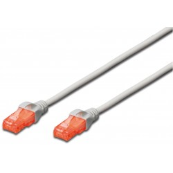 DK-1617-0025, Patch cable Cat.6 0,25m UTP сив LSZH, Assmann