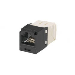 CJ688TGBL, The Category 6, RJ45, 8-position, 8-wire, UTP Mini-Com® universal jack module has TG-style termination and is black.