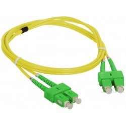 YIAN-9SCASCAPC-2-1m, Оптична корда дуплекс 9/125 SC/APC-SC/APC 1m