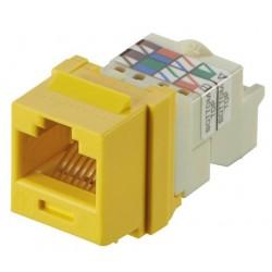 NK6TMYL, Netkey Конектор UTP Cat.6 жълт