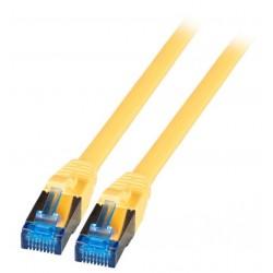825463, Пач кабел Cat.5e 0,25m UTP жълт, Equip